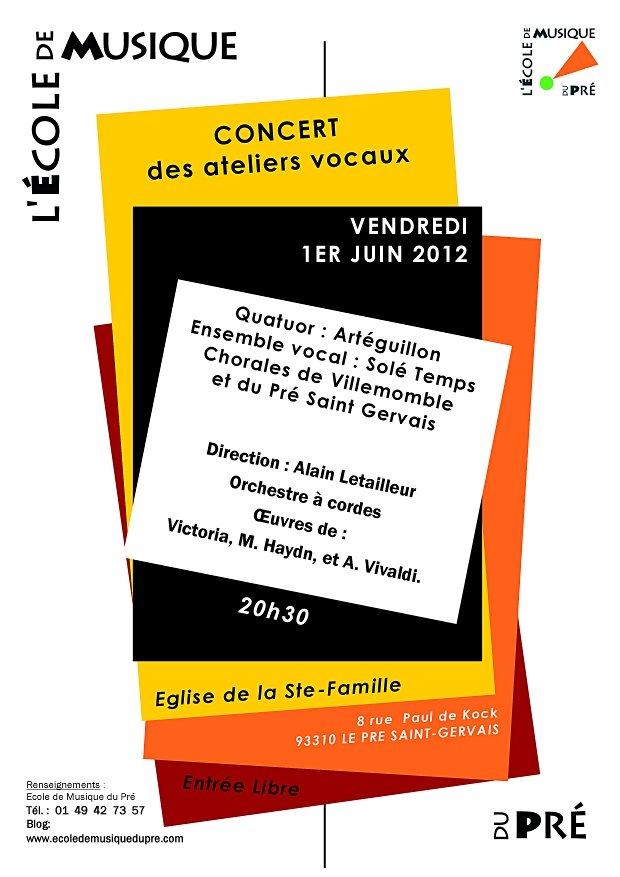 affiche 1er juin 2012 Concert