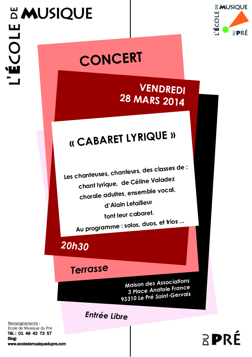 CABARET LYRIQUE MARS 2014