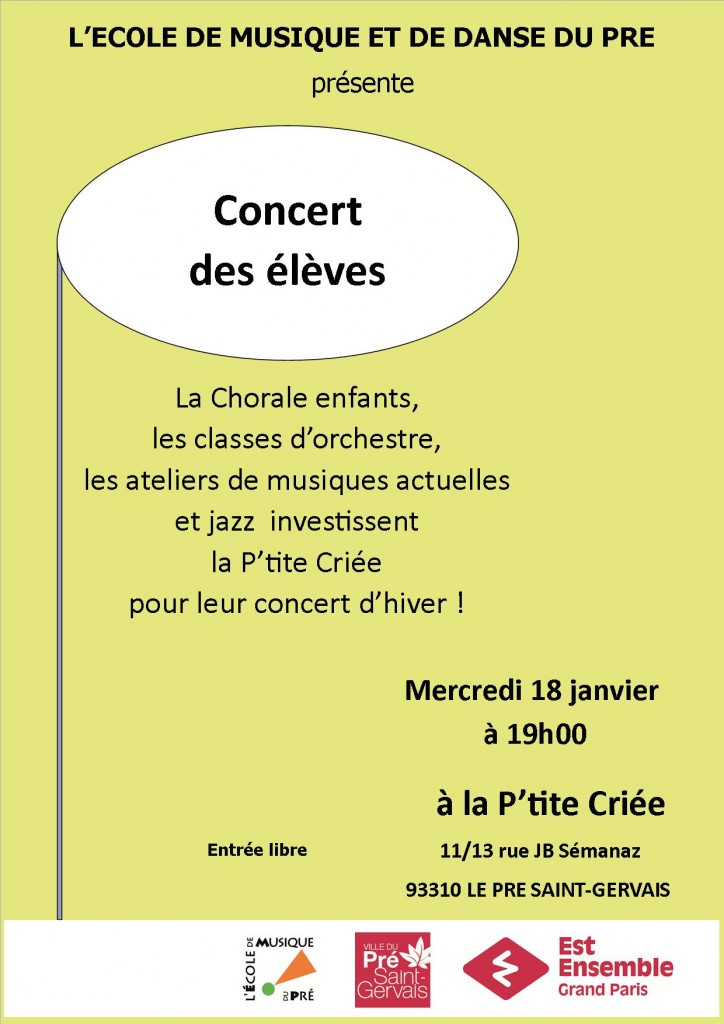 affiche modele type HEURE MUSICALE PTITE CRIEE